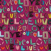 l o v e LOVE pink