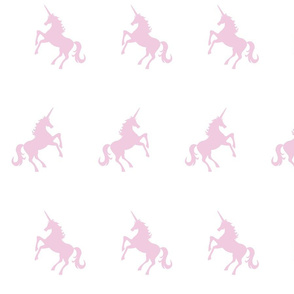 Unicorn soft pink on white