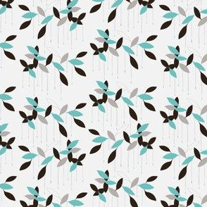 Abstract leaves pattern