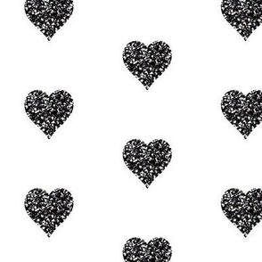 Black Glitter Hearts