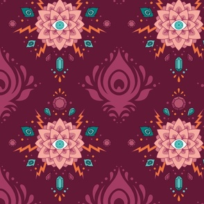 Glam Lotus Damask