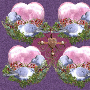 Heart Nest w/Doves