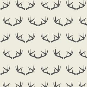 Antlers-Cream & Dark Gray