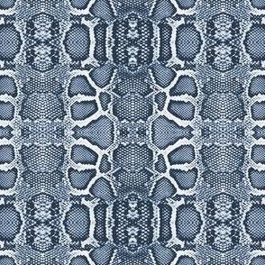snake checkerboard-indigo