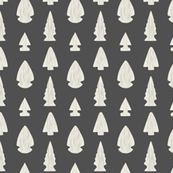 Arrowheads-Dark Gray & Cream