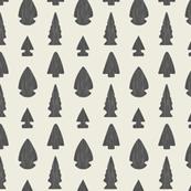 Arrowheads-Cream & Dark Gray