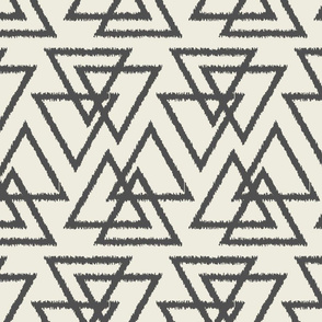 Trilogy Triangles-Cream & Dark Gray