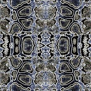 snake skin montage-indigo