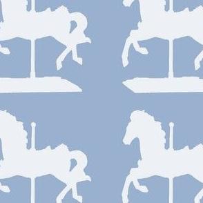 carousel horse-indigo