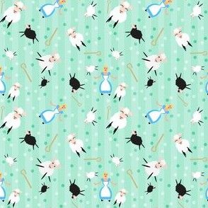 Bopeep & Sheep Ditsy Pattern