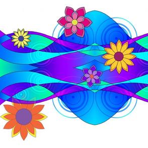 Flashy Flowers & Waves