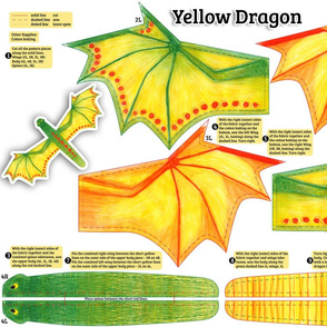 Yellow Dragon Plushie Pattern