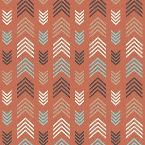 Chevron Arrow Stripes-Toasted Coral