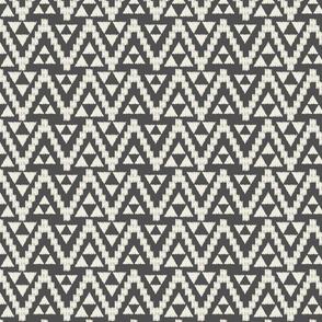 Geo Tribal-Dark Gray & Cream