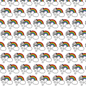 Skulls and rainbows