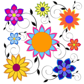 Flashy Flower Garden