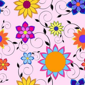 Flashy Flower Garden Pink