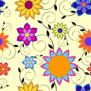 Flashy Flower Garden Yellow