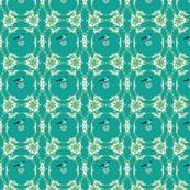 Modern Lace Bird Aqua-Q