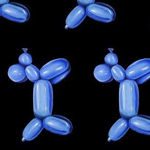 Blue Balloon Dog, Rotated