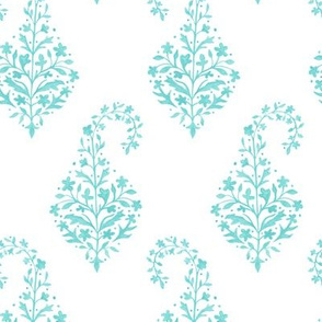Painted_Paisley in Aqua