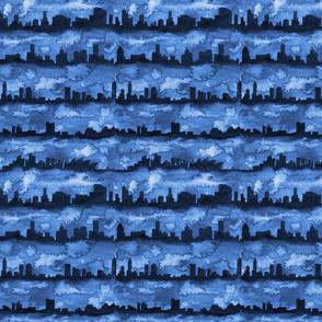 Australia skyline blue