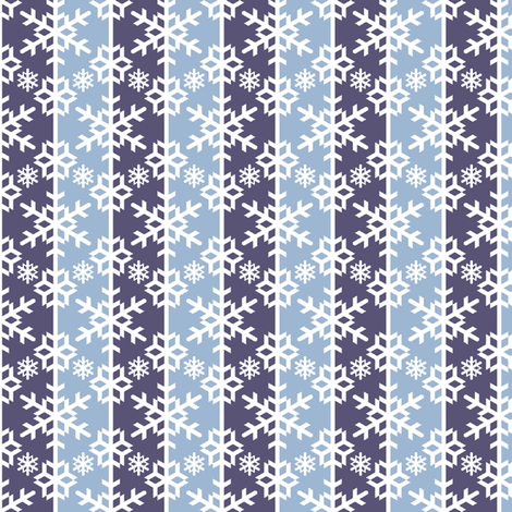 snow bauble stripe - wintry