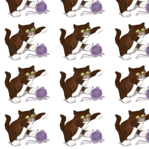Kitten_and_Purple_Yarn_-_Spoonflower