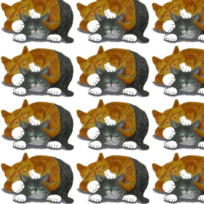 Two_Cats_Wrestling_-_Spoonflower