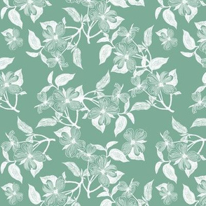 Seafoam Dogwood Blossoms