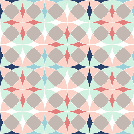 Trendy Curved Stars in Circles
