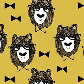 Bowtie Bear - Mustard by Andrea Lauren
