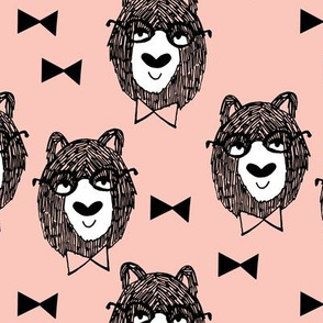 Bowtie Bear - Pale Pink by Andrea Lauren