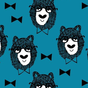 Bowtie Bear - Teal by Andrea Lauren