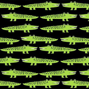 Happy Gators - Lime Green/Black by Andrea Lauren