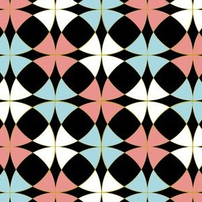 Pink, White, and Blue Trendy Mosaic