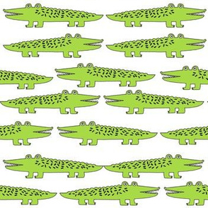 Happy Gators - Lime/White by Andrea Lauren