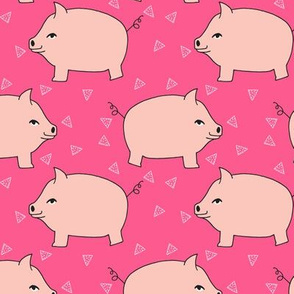 Piggy Bank - Pale Pink/Bright Pink by Andrea Lauren