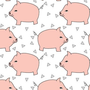 Piggy Bank - Pale Pink/White by Andrea Lauren