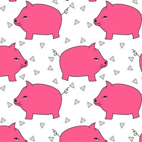 Piggy Bank - Bright Pink/White by Andrea Lauren