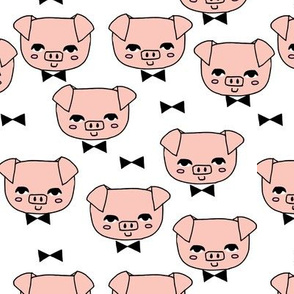 Mr. Pig - Pale Pink/White by Andrea Lauren