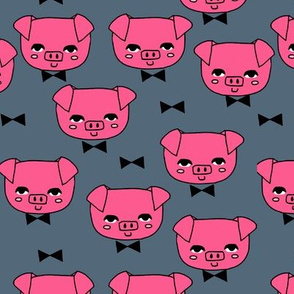 Mr. Pig - Bright Pink/Payne's Gray by Andrea Lauren