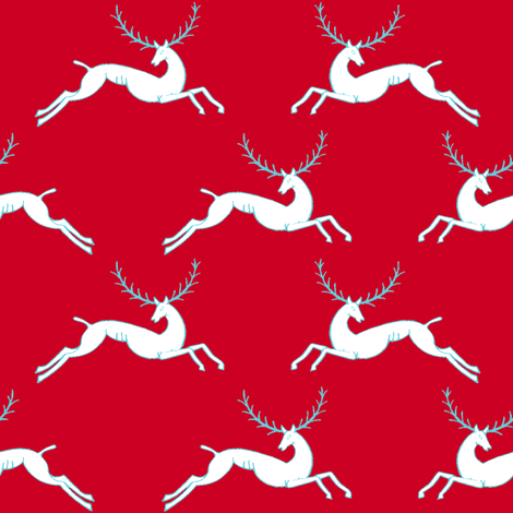 leaping stag red