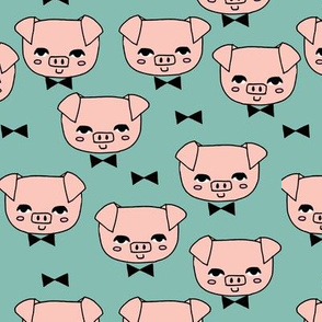 Mr. Pig - Light Pink/Sage by Andrea Lauren