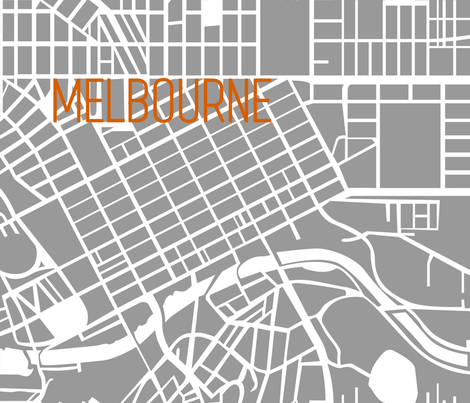 Modern Melbourne map