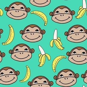 Happy Monkey - Light Jade