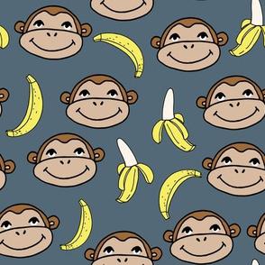 Happy Monkey - Payne's Grey by Andrea Lauren