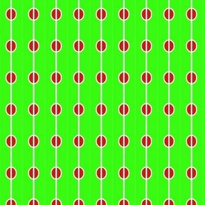 Beads Green Red