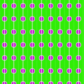 Beads Green Purple