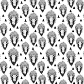 Buffalo bison black and white